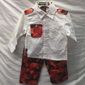 Enyce boys camouflage outfit New sz 18 mos